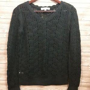 Loft dark green sweater